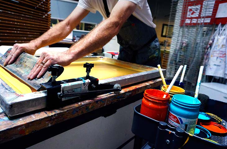 Screen-printing in jersey for charities