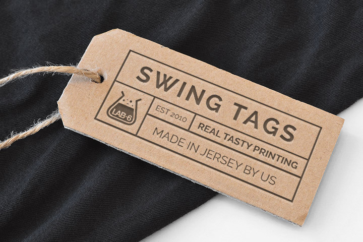 Printed swing tags Jersey