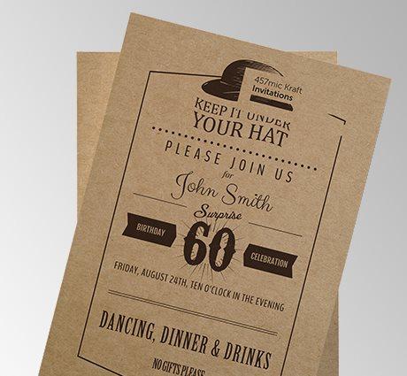 Kraft business card printing Jersey